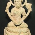 Ancient statuette of the Indian goddess Lakshmi dug up near the Gympie Pyramid