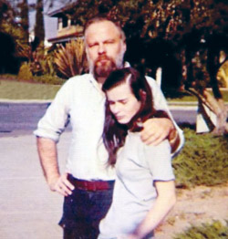 Philip K Dick with his wife Leslie (Tessa) Busby (married between 1973-1977). Photo courtesy of Tessa Dick.