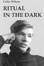 A young Colin Wilson pictured on his 1960 novel Ritual in the Dark.