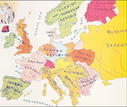 The cartoon map of Europe printed in the Christmas 1890 edition of The Truth.