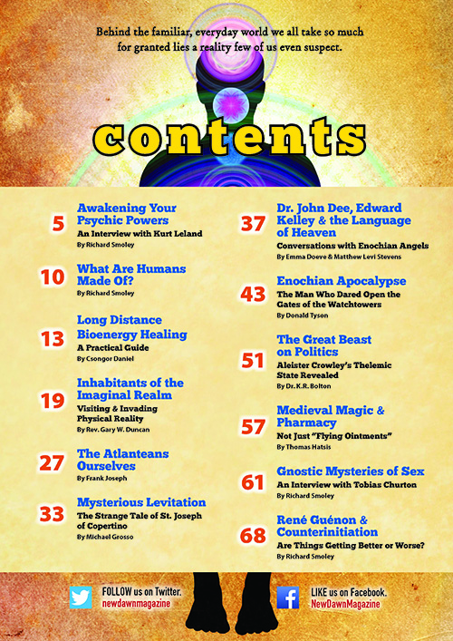 Contents - New Dawn Special Issue V10N3