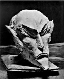 Ahriman's head carved in wood by Rudolf Steiner
