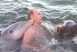 President Putin relaxing
